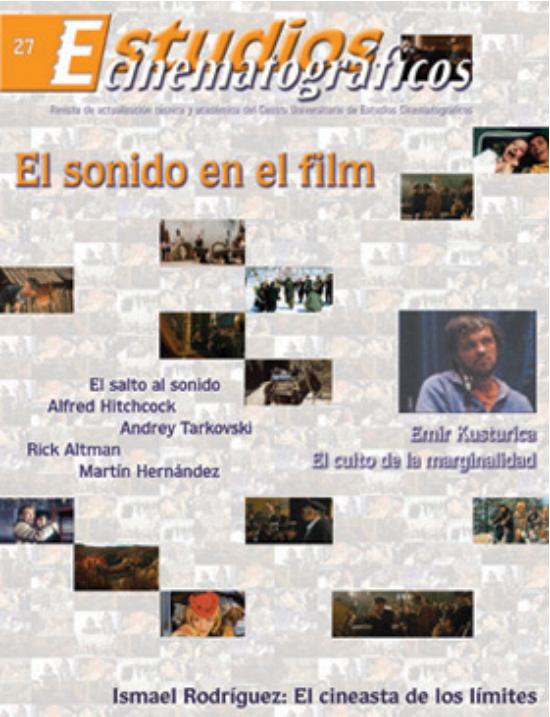 27 «El sonido en el film» Centro Universitario de Estudios Cinematográficos : UNAM Image